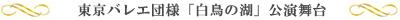 東京バレエ団様「白鳥の湖」公演舞台