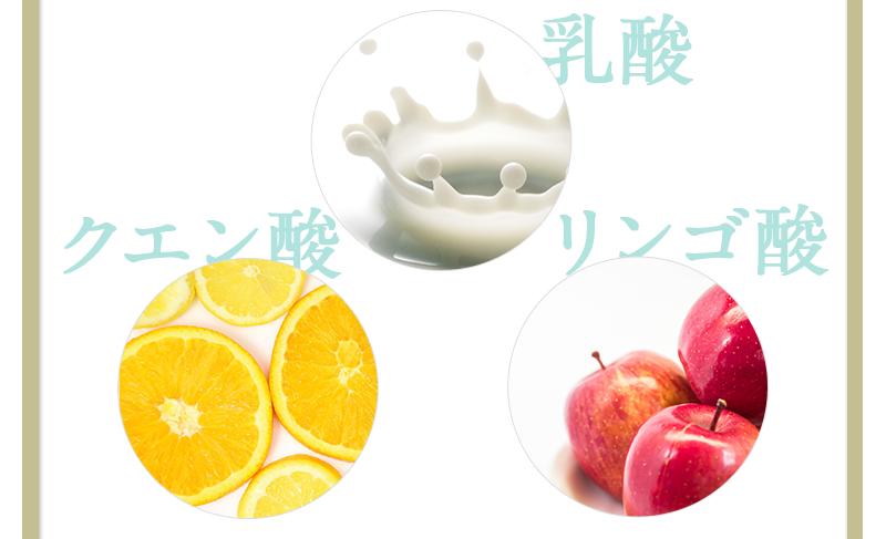 乳酸 クエン酸  リンゴ酸