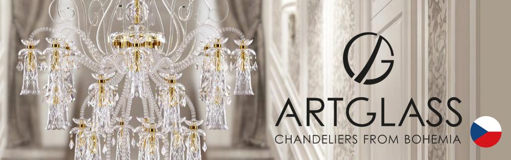 Art Glass社は1993年設立されたボヘミアンクリスタルシャンデリアで有名なチェコの大手メーカーです。大きなサイズのカスタム照明器具の製造を専門とし、高品質で伝統的なマリアテレサ型シャンデリアや現代クリスタル照明器具などを取り扱っています。
