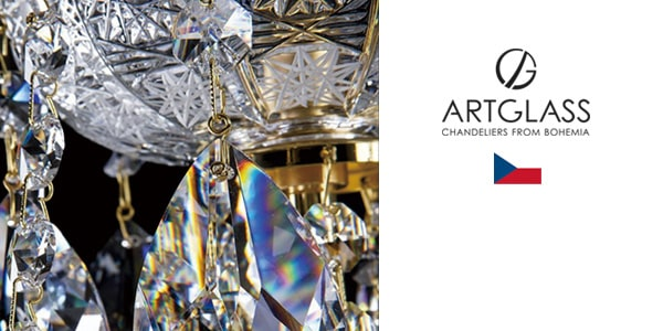 アートグラス(Art glass)-シャンデリア フローム ボヘミア-