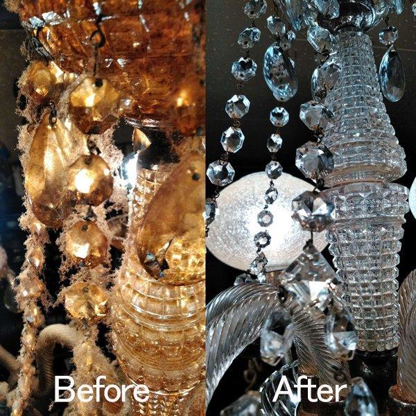 シャンデリア・照明の清掃のビフォー2